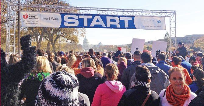 INICIO. La caminata comenzó en dirección al Capitolio, el sábado 9.
