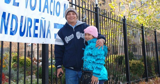 Hondureños desafían el frío para votar en DC