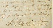 Parte del documento firmado por el presidente George Washington proclamando el primer Thanksgiving de la nación