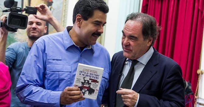 Maduro se reúne con Oliver Stone