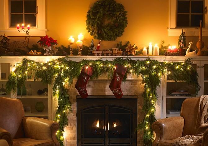 Compartir las fiestas con luces de Navidad