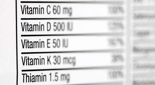 Suplementos de vitaminas.
