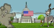 Republicanos vs demócratas según la caricatura de Gogue