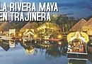 En la imagen un aspecto nocturno de Xoximilco Cancún, nueva atracción de Experiencias Xcaret.