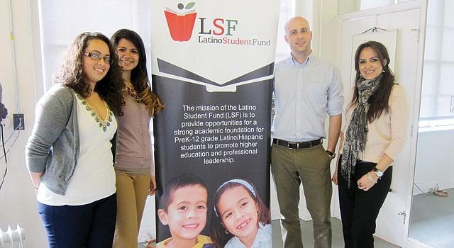EQUIPO. De izq. a der. Lauren Rice, Hana Viswanathan, Alex Hitch y María-Fernanda Borja del Latino Student Fund.