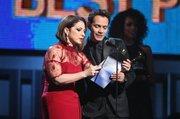 Gloria Estefan y Marc Anthony presentan al mejor álbum pop vocal en la 56ta entrega anual de los Grammy en el Staples Center el domingo 26 de enero de 2014 en Los Angeles.