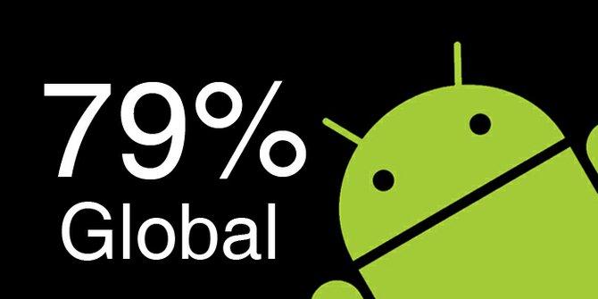 Android está ahora en el 79% de los teléfonos del mundo