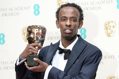 """Barkhad Abdi, nominado como Mejor Actor de Reparto por """"Captain Phillips""""."""