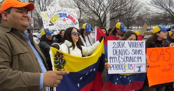 Venezolanos ante la OA en DC, el miércoles 19 de febrero