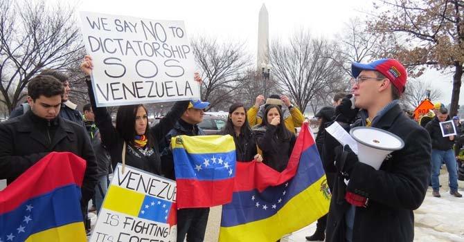 Concentración el miércoles 19 de febrero ante el edificio de la OEA en Washington, DC.