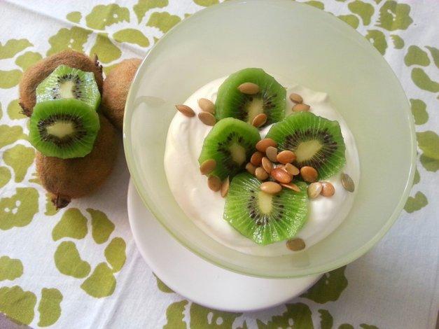 Parfait de Kiwi con Pepitas y Miel