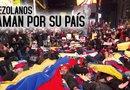 Venezolanos de todo el mundo se manifiestan y se sienten dolidos por lo que ocurre en su país.
