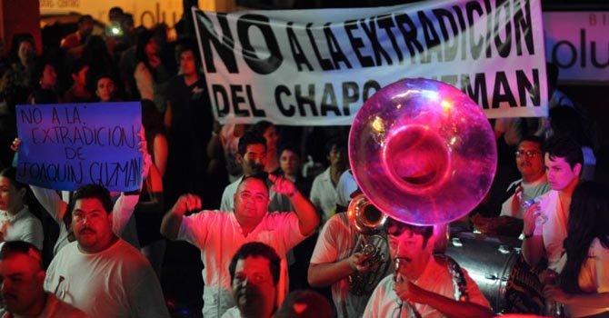 """Investigan marcha pro """"Chapo"""""""