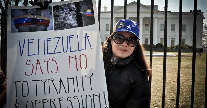 Ante la Casa Blanca el 1 de marzo
