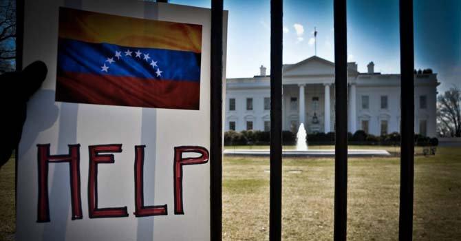 Venezolanos se manifiestan ante la Casa Blanca