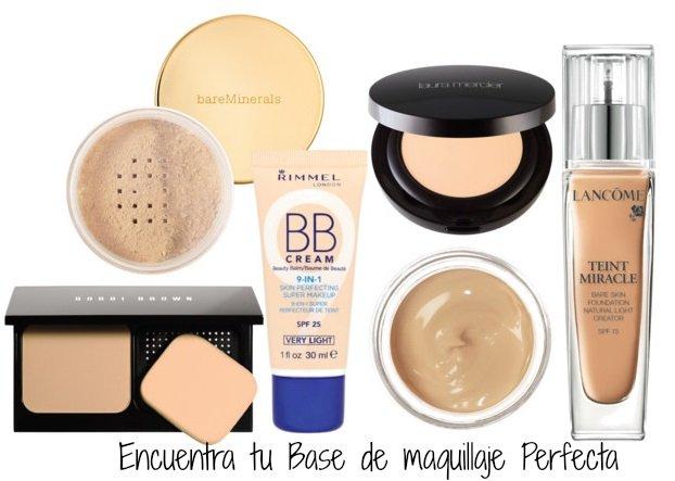 Encuentra tu Base de maquillaje Perfecta