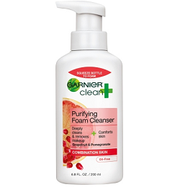 Garnier clean + purifying foam cleanser