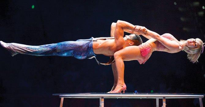 Dúo Fusión: equilibrio, salsa y tango en el circo