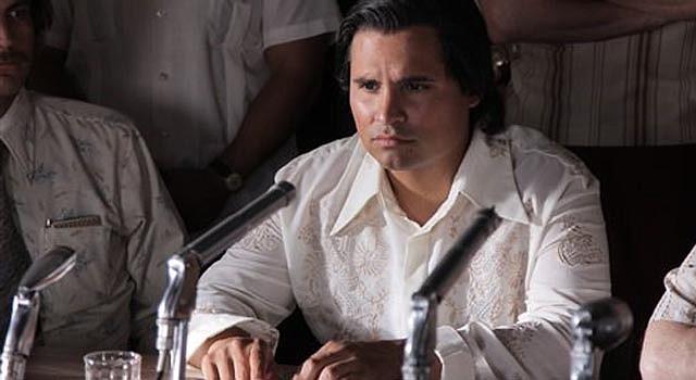 """Michael Peña como César Chávez en una escena de """"César Chávez"""" en una fotografía proporcionada por Pantelion Films. (Foto AP/Pantelion Films"""