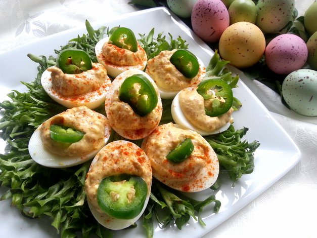 Deviled Eggs o Huevos Endiablados
