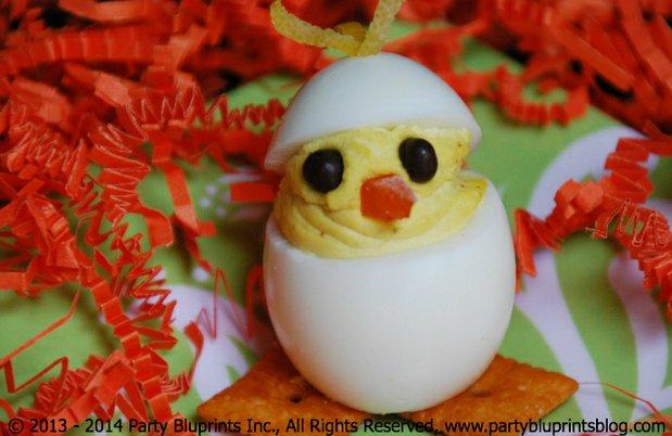 Pollitos con Huevos Rellenos para Pascua y Celebraciones de Primavera