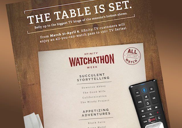 Regresa la semana del Watchathon de Comcast