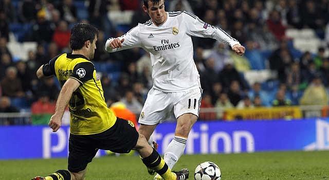 Gareth Bale marcó el primer gol del 3-0 contra el Borussia Dortmund en la Champions