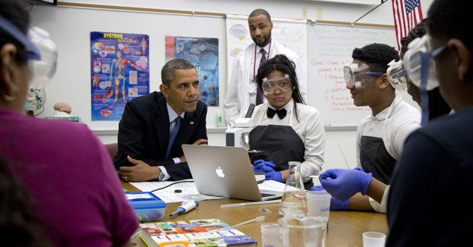 Obama anuncia en MD plan de becas para escuelas
