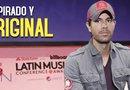 Enrique Iglesias confesó que componer es para él una forma de desahogarse.