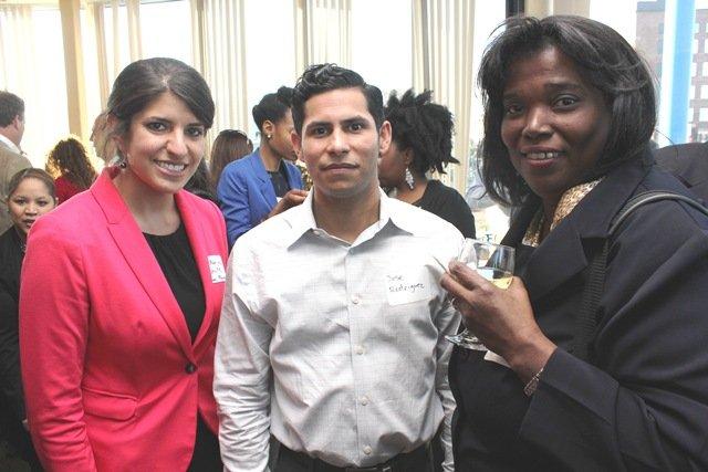 Katherine Schulte, Jose Rodríguez y Elaine Peart