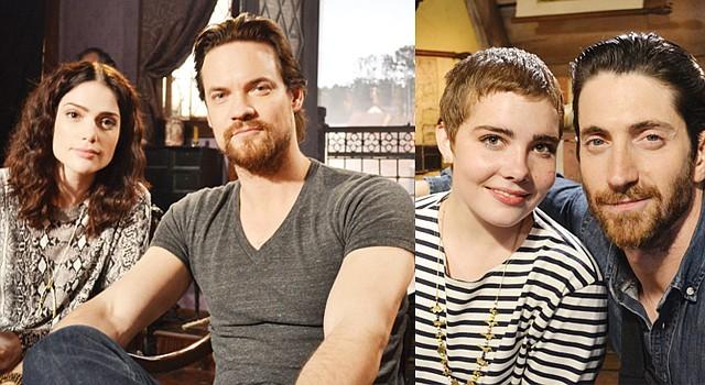 "AMOR. Janet Montgomery y Shane West se enamoran en ""Salem"". POSEÍDOS. Elise Eberle junto a Iddo Goldberg."