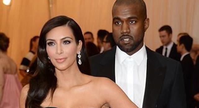 Kim Kardashian y Kanie West en la gala del Met.