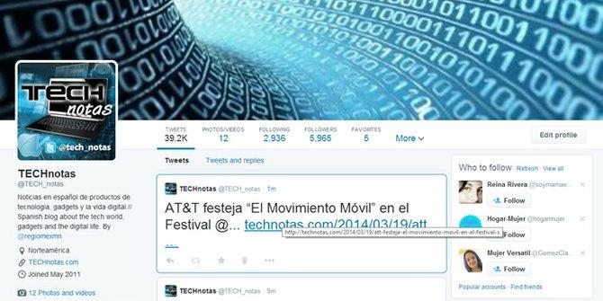 Nuevos perfiles de Twitter disponibles ahora para todos