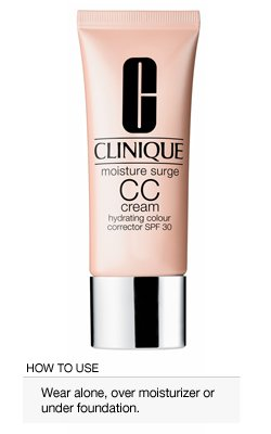Moisture Surge CC Cream Hydrating Colour Corrector Broad Spectrum SPF 30 de Clinique