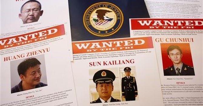 Acusan a cinco chinos de espionaje
