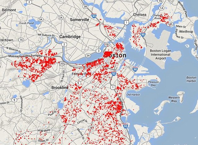 ¿Dónde están las ratas en Boston? Estos mapas lo muestran