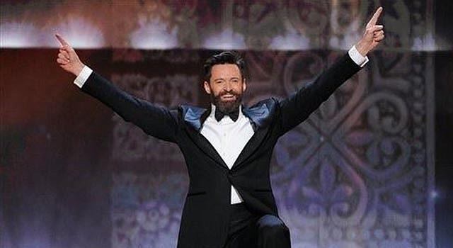 El anfitrión Hugh Jackman durante la 68a entrega anual de los premios Tony, en el Radio City Music Hall, el domingo 8 de junio del 2014 en Nueva York. (Foto por Evan Agostini/Invision/AP)