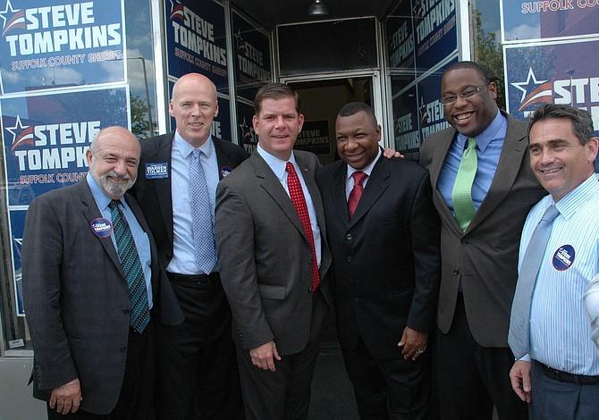 Alcalde de Boston Marty Walsh respalda candidatura de Steve Tompkins a sheriff del condado de Suffolk