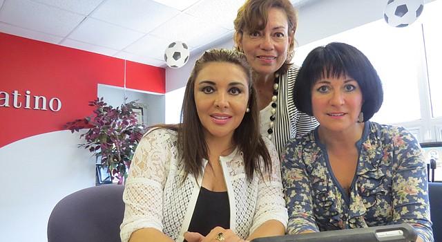 ORGANIZADORAS. De izq. a der. Stella Bonds, Rosalía Fajardo y Cinthia Zarzar Sadri son los motores del concurso.