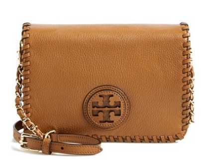 'Marion' Leather Crossbody Flap Bag