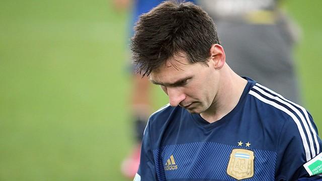 Lionel Messi después de la final del Mundial de Brasil que su país Argentina perdió 1-0 ante Alemania.