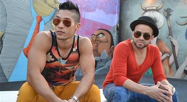 En esta foto del 3 de febrero del 2014, Chino y Nacho, de izquierda a derecha, durante una entrevista en Miami. El exitoso dúo tropical venezolano dijo el 16 de julio del 2014 que incursionará en el terreno pop con un álbum que saldría al mercado a finales de este mismo año. (AP Foto/Iván Cruz, Archivo)