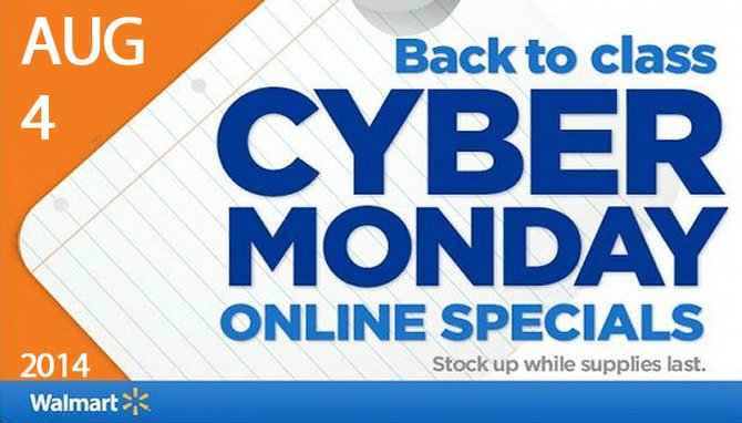 "Presenta Walmart venta Cyber Monday para ""Back to School"""