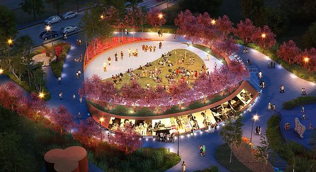 Diseño del parque conmemorativo que se inaugurará el viernes 22 de agosto en el Langdon Park, al noreste de DC.