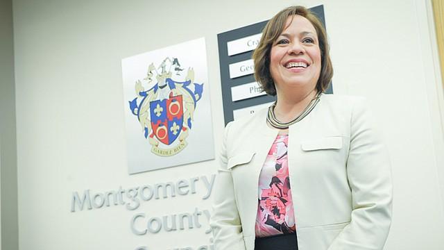 La concejal del condado de Montgomery, Maryland, Nancy Navarro.