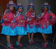 Bailarinas bolivianas.