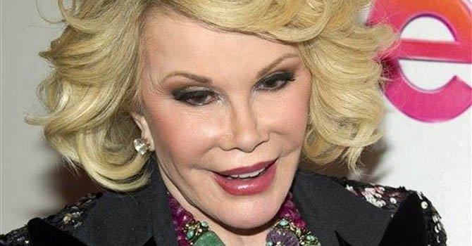 Joan Rivers ya no está en coma inducido