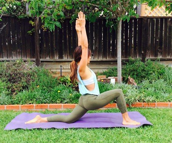 Estiramientos de yoga post-ejercicio