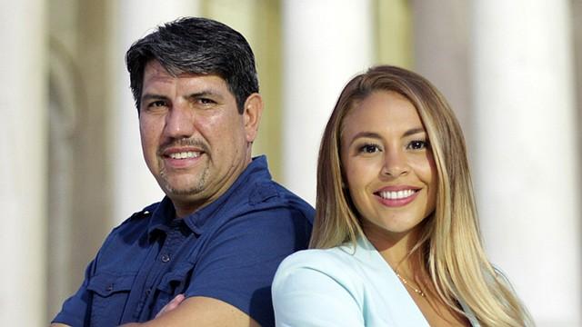 """Sergio Urriola y Stephanie Martinez, al timón de """"Vamos empresa"""", un programa televisivo para los emprendedores del área de DC."""