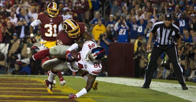 Giants capitalizan errores de los Redskins